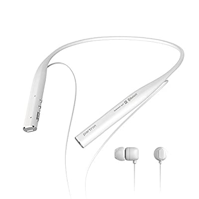 Partron PBH-300 Bluetooth Wireless Headset/Headphone aptX 2Mic Long Battery HD Stereo Neckband Flexible Band Magnetic In-Ear Earbuds for All Bluetooth Enabled Devices