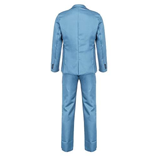 Couleur Costume Slim Pantalon Homme Gilet Unie Ciel Veste Bleu Fit Mariage En Et Cérémonie Uw1SqdwH