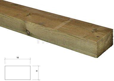 Pack de 3 traviesas ecológicas de madera de pino 18x09x200cm: Amazon.es: Hogar