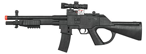 ukarms Tactical Pump Action Spring Airsoft Rifle Gun FPS 250, Black