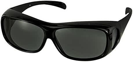 LensCovers Sunglasses Wear Over Prescription Glasses-Large Slim- Polarized