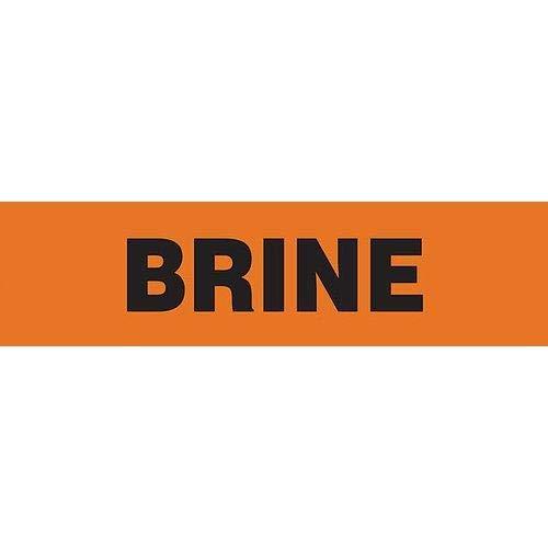 GHS Safety PM1038VA, Orange Adhesive Vinyl Pipe Marker''Brine'', Pack of 500 pcs