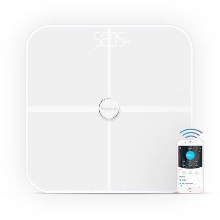 Körperfettwaage , Webat Digitalwaage Körperfettwaage Präzision intelligentes Körperfett mit Fitness Fitness-Messtechnik BIA Dual-Frequenz-Blanc