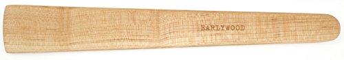 (13 in Handmade Kitchen Cooking Utensil, Thin Dark Wood Saute Spatula, Multipurpose Flat Wooden Spatula, Perfect for flipping, scraping, sauteing, turning - Wooden Cooking Utensils - Made in USA - M)