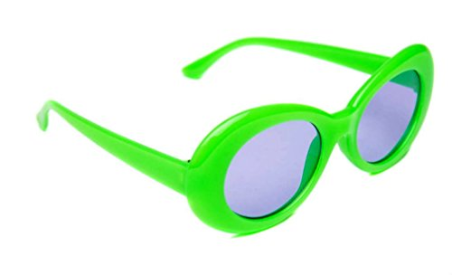 WebDeals - Oval Round Retro Sunglasses Color Tint or Smoke Lenses Clout Goggles ... (Green, Light Purple)