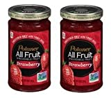 Polaner All Fruit Strawberry Spreadable Fruit 10 oz. Jar (Pack of 2) Gluten Free.