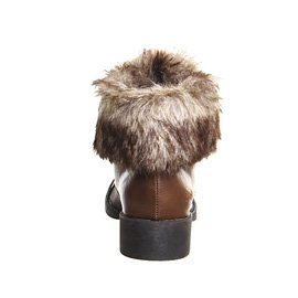 Blowfish - Botas para mujer Marrón - Coffee Old Saddle Brown Faux Fuzzy Exclusive