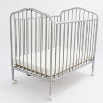 Attractive L.A. Baby Portable Crib Pewter