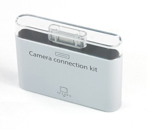 USB CF I/CF II Card Reader Camera Connection Kit for Apple iPad 1/2(White) (Apple Camera Connection Kit)