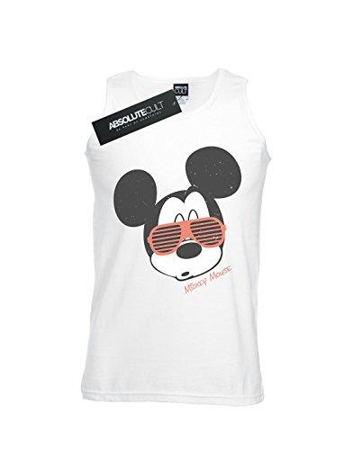 Tank Mickey Blanc Mouse Sunglasses Top Homme Disney UqgTn
