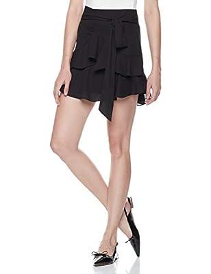 Plumberry Womens High Waisted Ruffle Mini Skirt