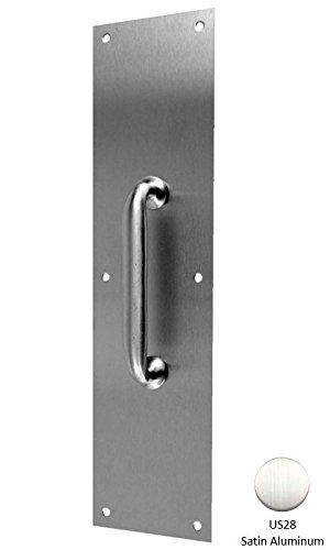 Don-Jo 7010 Aluminum Pull Plate with Cast Pull, Satin Anodized Aluminum Finish, 3-1/2'' Width x 15'' Height