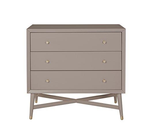 Dwellstudio Mid Century 3 Drawer Dresser, French Grey by Dwell Studio