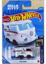 Hot Wheels 2021 Kool Kombi HW Screen Time Hello Kitty White 38/250, Long Card by Mattel