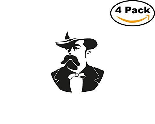 jack daniel 4 Stickers 4x4 Inches Car Bumper Window Sticker Decal