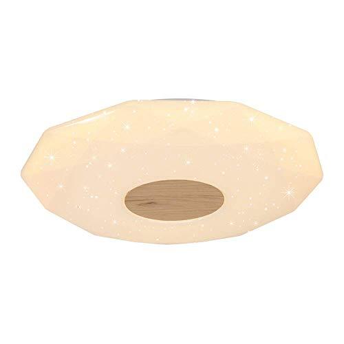 - Mengzhu-Michelle Round LED Ceiling Light Dimmable Ceiling Lamp Modern Simple Ceiling Lighting Starlight Inner Lighting Living Room Bedroom Nursery Acrylic Wood Ø57 H7 cm 36W 3000-6000K