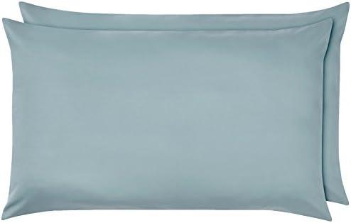 AmazonBasics – Federe in microfibra, 50 x 80 cm, Set di due – Blu spa