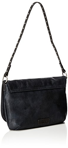 s.Oliver (Bags) - 39.712.94.4501, Bolsos bandolera Mujer, Schwarz (Black/schwarz), 4x18.5x27.5 cm (B x H T)
