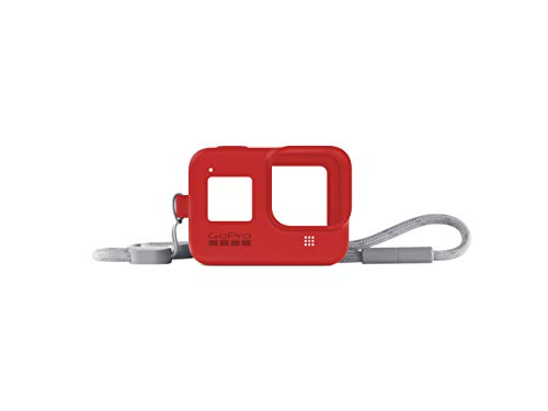 GoPro Sleeve + Lanyard (HERO8 Black) Firecracker Red - Official GoPro Accessory