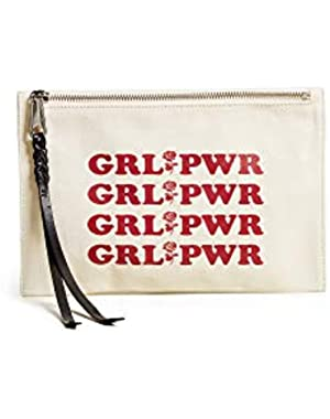Women's Girl Power Medium Zip Pouch