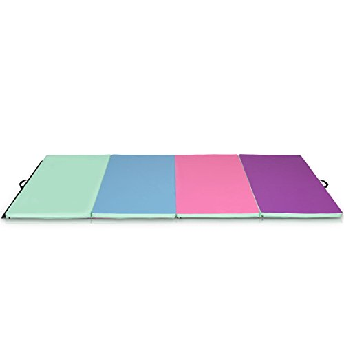 EnjoyShop 4′ x 10′ x 2″ Portable Gymnastics Mat Folding Exercise Mat