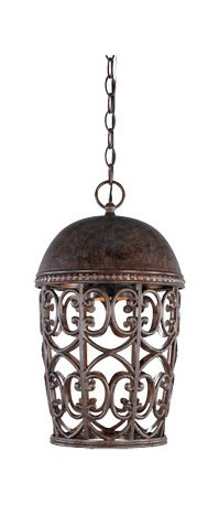 Burnt Umber Single Light Down Lighting Outdoor Pendant from the Dark Sky Amherst Collection