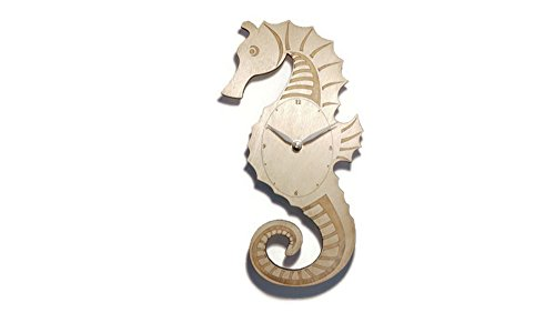 Seahorse Wall Clock - 6 in by 11 in - Birch ()