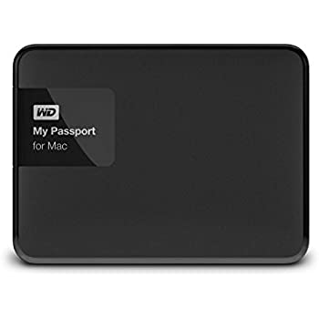WD 2TB Black My Passport for Mac Portable  External Hard Drive  - USB 3.0  - WDBCGL0020BSL-NESN
