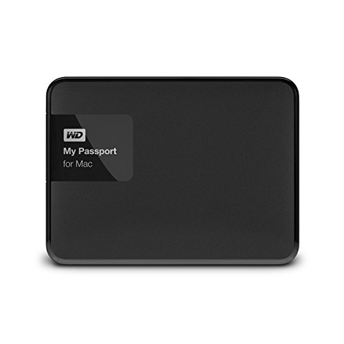WD 1TB Black My Passport for Mac Portable  External Hard Drive  - USB 3.0  - WDBJBS0010BSL-NESN