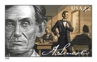Abraham Lincoln Mint Sheet of Twenty 42 Cent Postage Stamps Scott 4380-83 By USPS ()