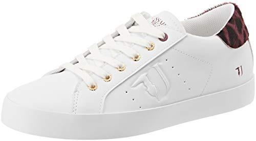 Jeans Detail Rouge R290 Gymnastique rosso 7779 Trussardi Chaussures Sneakers De maculatobordeaux Femme Pony ZAw14xq6