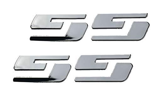 2Pair SS Emblems Badges Nameplates 3D Logo for Chevrolet Silverado Gmc Sierra