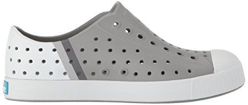 Native Kids Block Print Jefferson Water Proof Shoes, Pigeon Grey/Shell White/Gradient Block, 5 Medium US Big Kid by Native Shoes (Image #7)