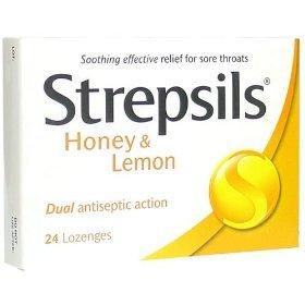 5x Strepsils Honey and Lemon Cough Pill Relieve Sorethroat