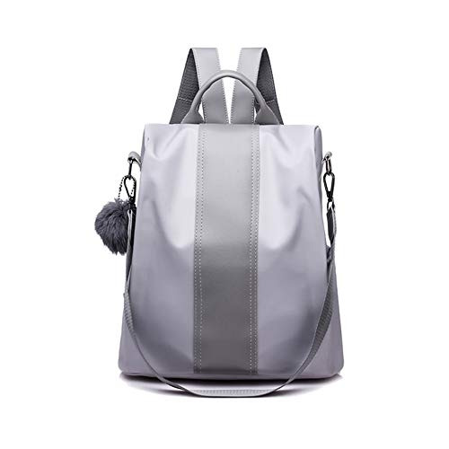Oxford Rucksack Silver Zongsi Backpack Anti theft Shoulder Women For Purse Bag Cloth Waterproof dYRYw7