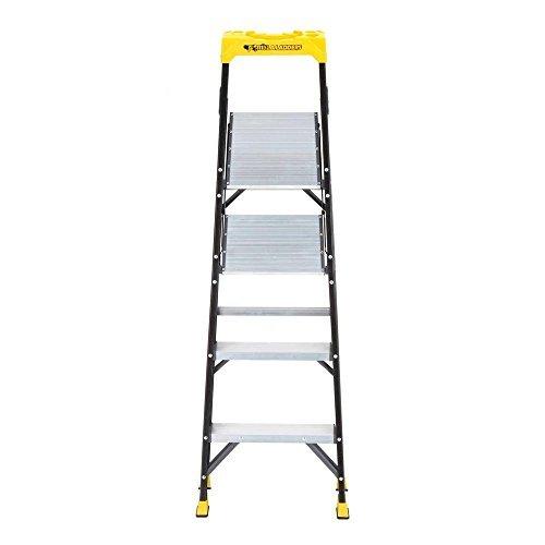 6 Ft Fiberglass 4 Step Hybrid Step Stool Ladder W