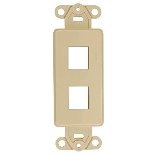 Keystone Decora Style Insert Strap, 2 Ports, Ivory