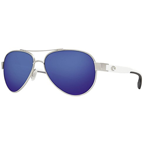 Costa del Mar Loreto Sunglasses Palladium w/White/Blue Mirror - Point Sunglasses South Costa
