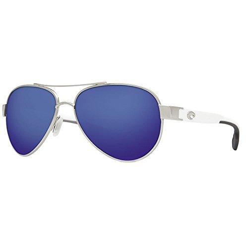 Costa del Mar Loreto Sunglasses Palladium w/White/Blue Mirror - Costa Del Sunglasses Warranty Mar