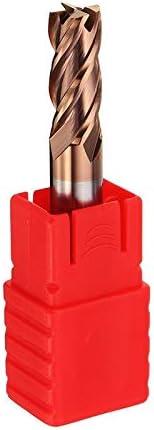 GENERICS LSB-Werkzeuge, Dauerhafte 1-8mm 4 Flöten Hartmetall Schaftfräser HRC55 AlTiN Beschichtung Schaftfräser for CNC-Werkzeug (Cutting Edge Diameter : 8mm)