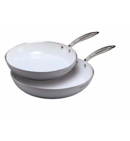 Lagostina Bianco Frying pans, 2-pk (10 and 12) 2-pk (10 and 12)