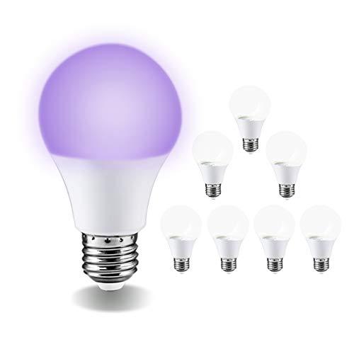 Floodoor UV LED Black Lights Bulb 9W Ultraviolet A19(75Watt Equivalent),UVA Level395-400nm,E26 Medium Base 120V, Great…