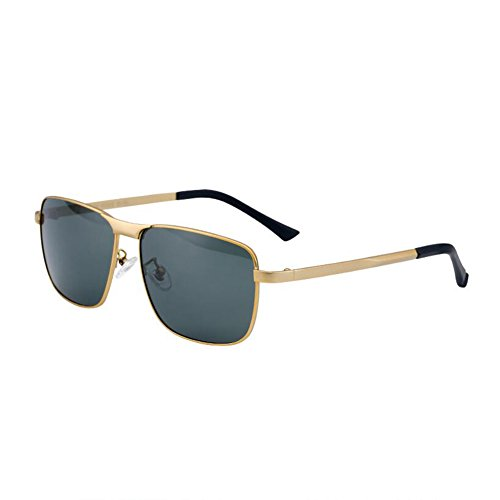 Dark conducen color de Hombres diseño sol polarizado HONEY opcional Gun Green retro 4 Ash Gold que las gafas Color PTnwAE