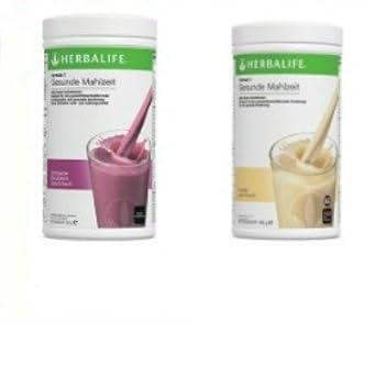 Herbalife - Comida saludable (2 x 550 g, vainilla y frambuesa azul)