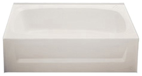 Kinro Composites ALM2754A LH-SPK Almond ABS Bath Tub with Apron by Kinro Composites