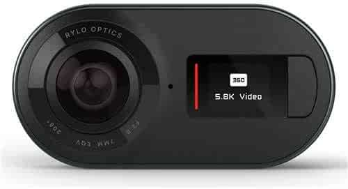 Rylo 360 Video Camera - (iPhone + Android) - Breakthrough Stabilization, 5.8K Recording, Includes 16GB SD Card Everyday Case, Black