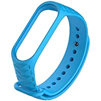 Safeseed Waterproof Wrist Band Strap Stripped Pattern for Xiaomi Mi Band 3 and Mi Band 4 Smart Activity Tracker - Lozenge Pattern(Only Strap - Chip not Included)
