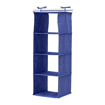 Superieur Ikea Jall 4 Compartment Hanging Closet Clothes Shoes Organizer Storage
