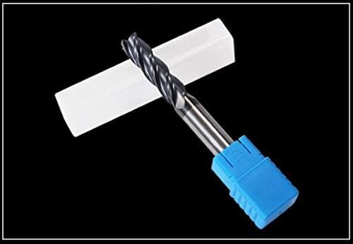 NO LOGO 1pc Endmill Fräser Schnitt HRC50 4 Flute 4mm 5mm 6mm 8mm 10mm Legierung Carbide Fräser Schaftfräser for Cutter Metall (Größe : 2x4Dx50L)