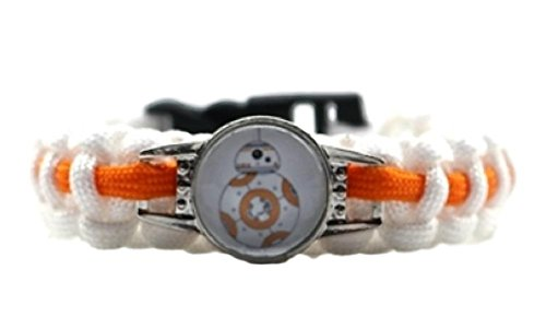 Star Wars BB8 Character Logo Paracord Braided Bracelet